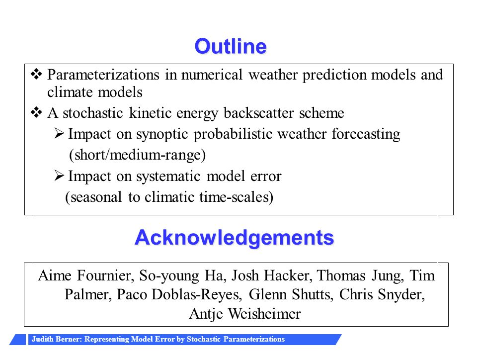 Outline Acknowledgements