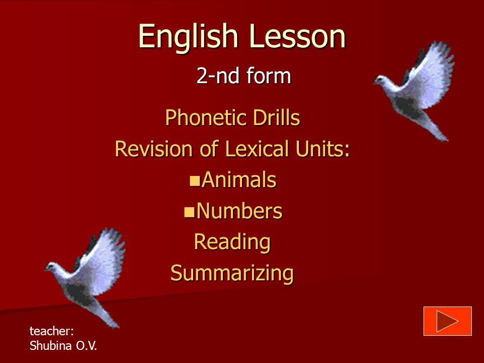 Revision of Lexical Units:
