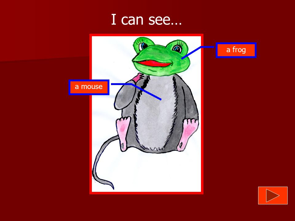 I can see… a frog a mouse