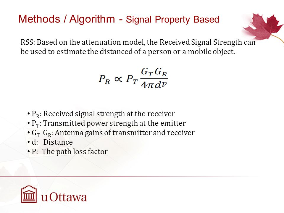 Methods / Algorithm - Signal Property Based