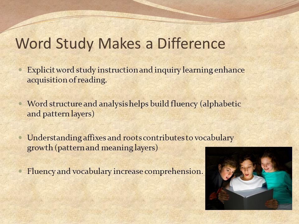 Word Study Makes a Difference