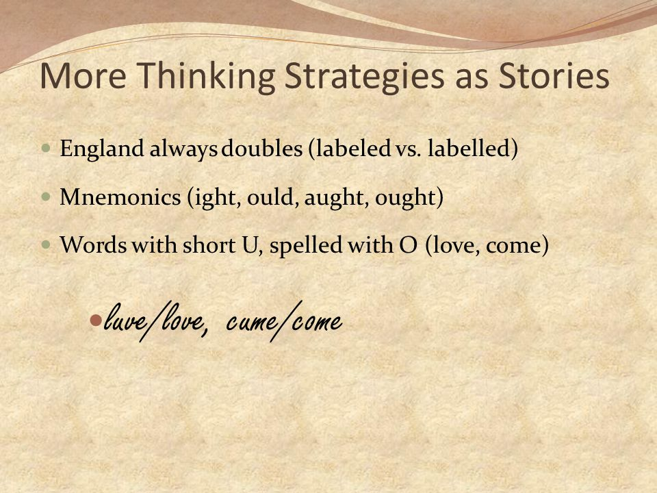 More Thinking Strategies as Stories