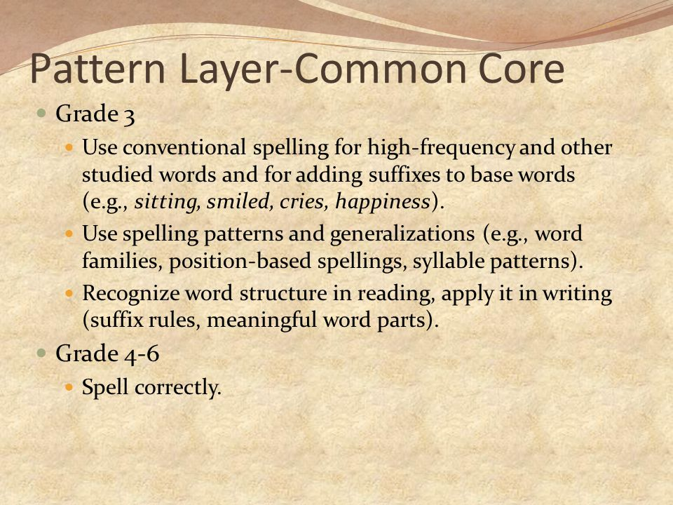 Pattern Layer-Common Core
