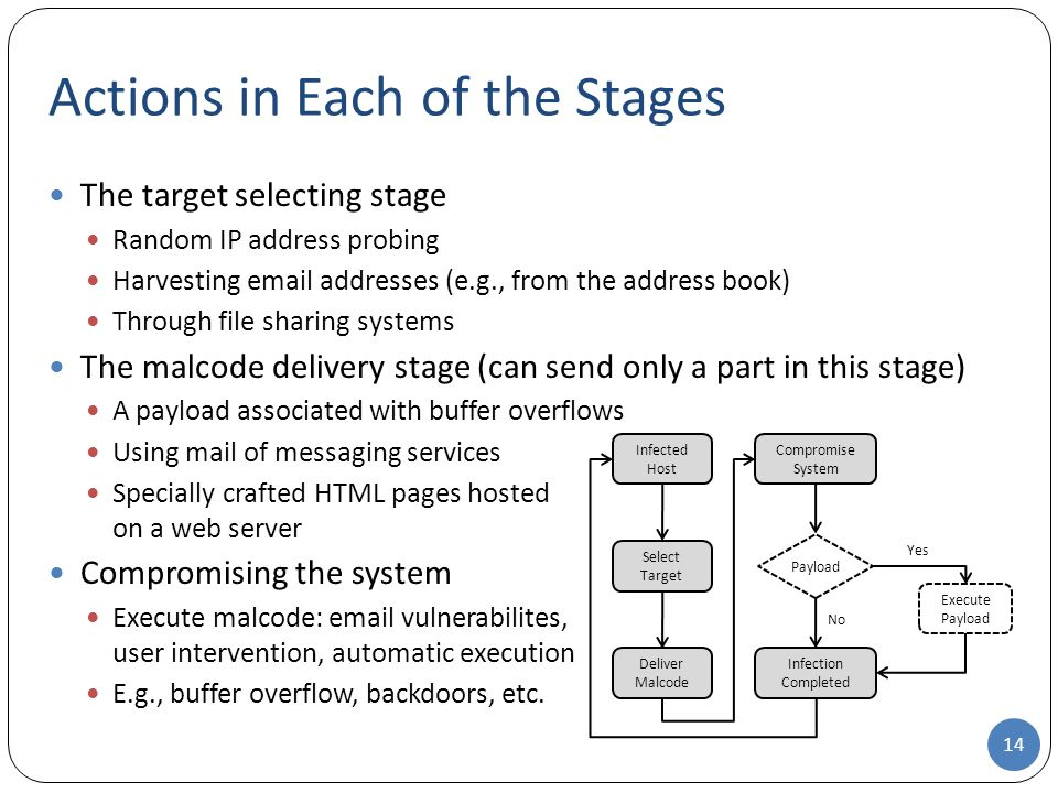 Actions in Each of the Stages