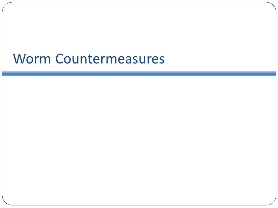 Worm Countermeasures