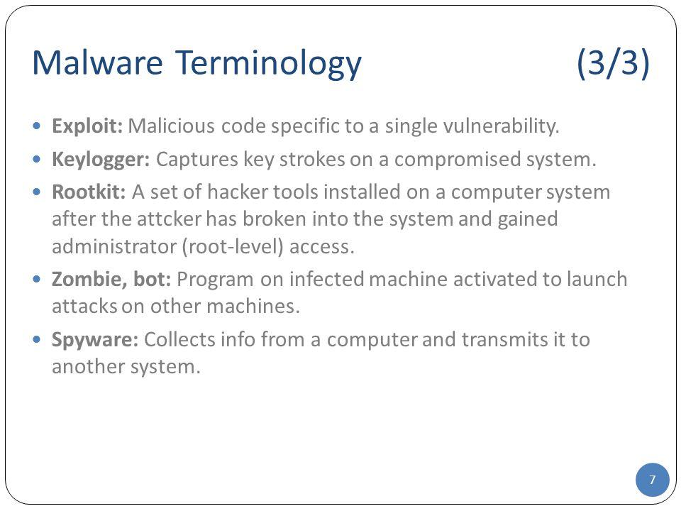 Malware Terminology (3/3)