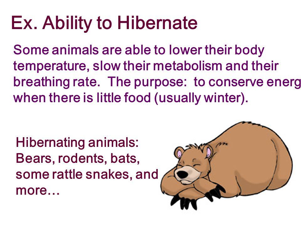 Ex. Ability to Hibernate