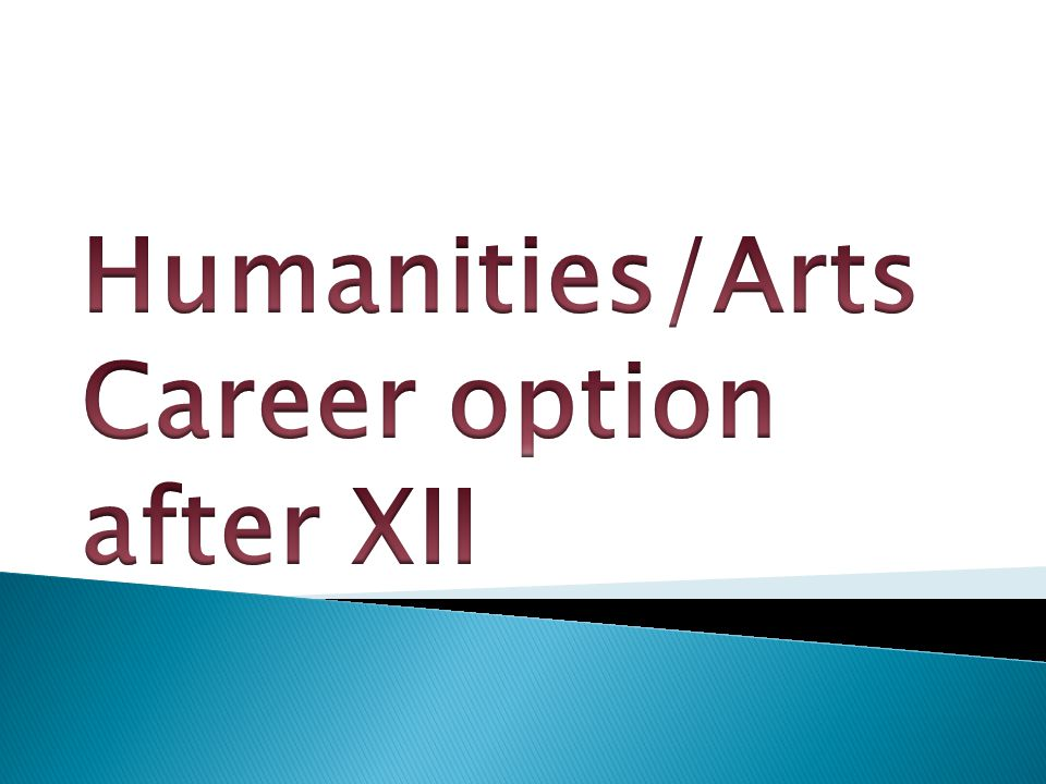 Humanities/Arts Career option after XII