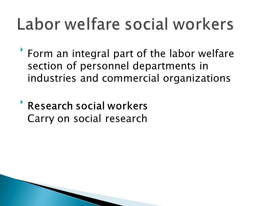 Labor welfare social workers