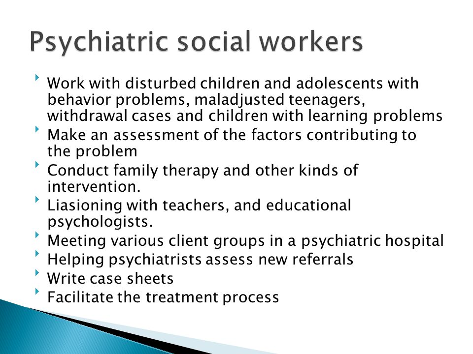 Psychiatric social workers