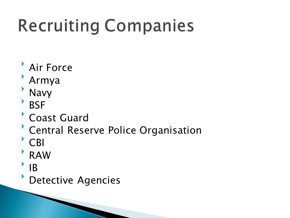 Recruiting Companies Air Force Armya Navy BSF Coast Guard