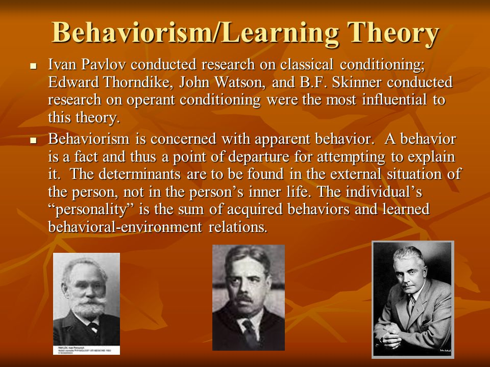 Behaviorism/Learning Theory