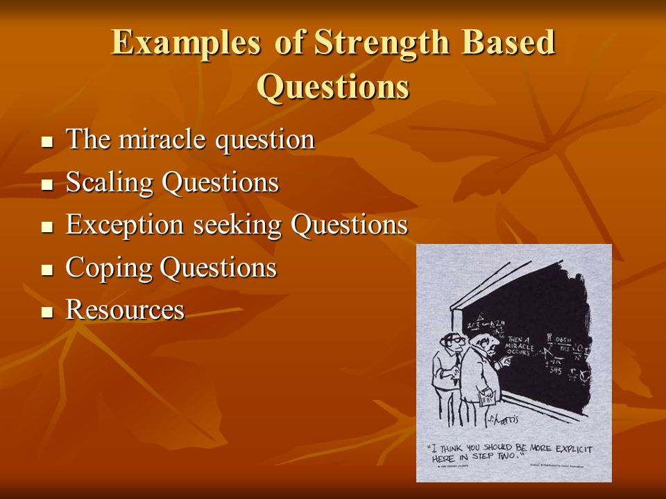 Examples of Strength Based Questions