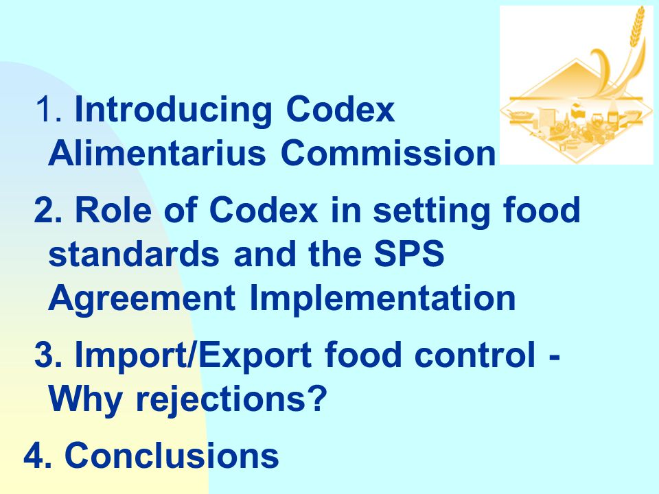 1. Introducing Codex Alimentarius Commission