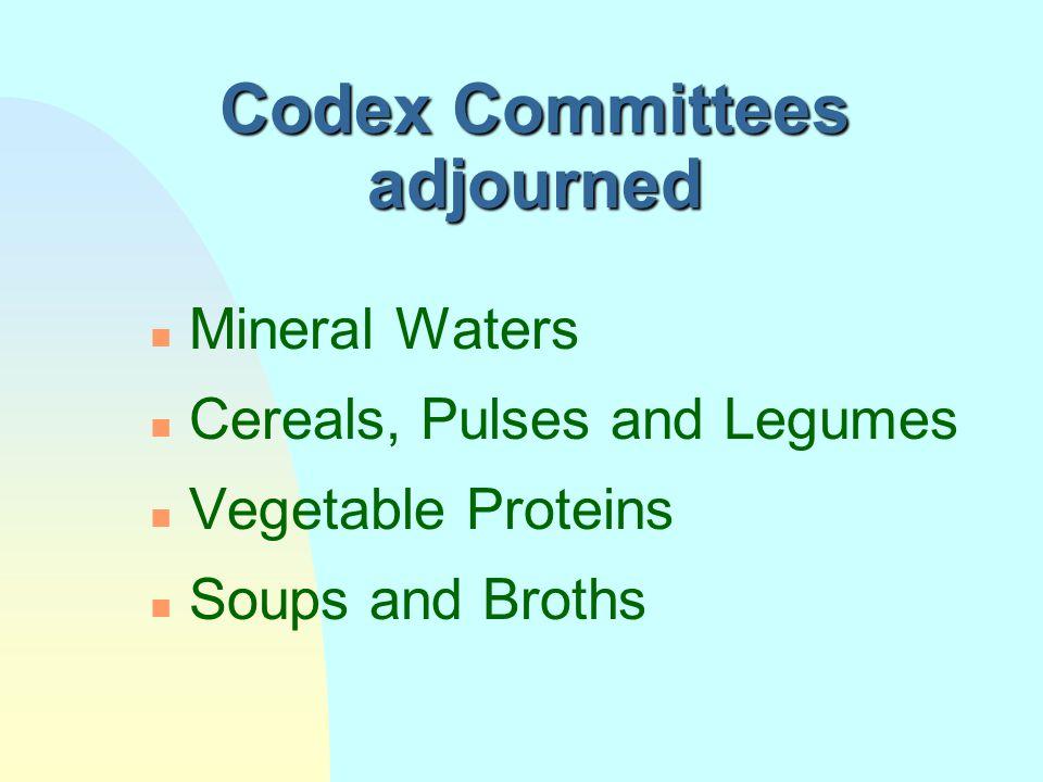 Codex Committees adjourned