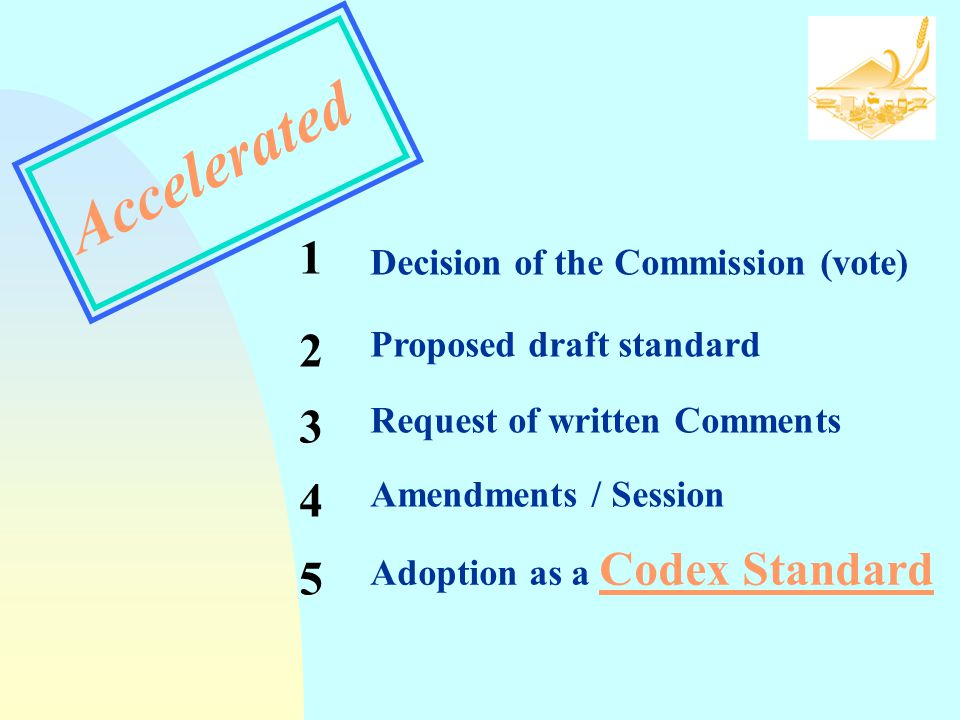 Accelerated 1 2 3 4 5 Decision of the Commission (vote)