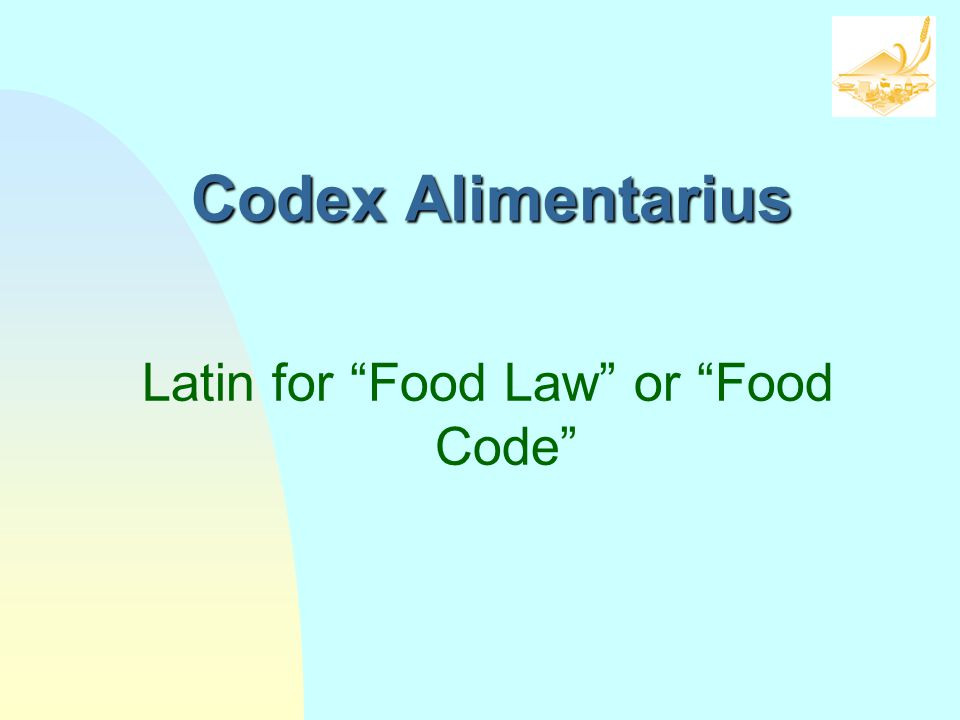 Latin for Food Law or Food Code