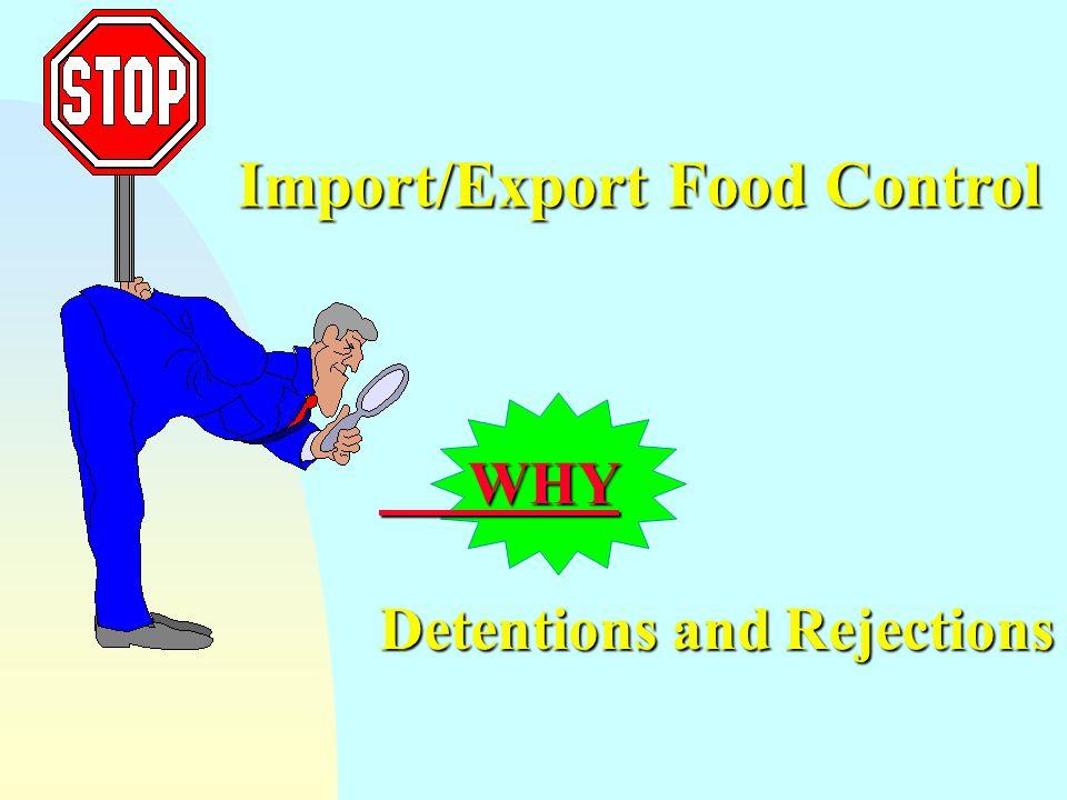 Import/Export Food Control