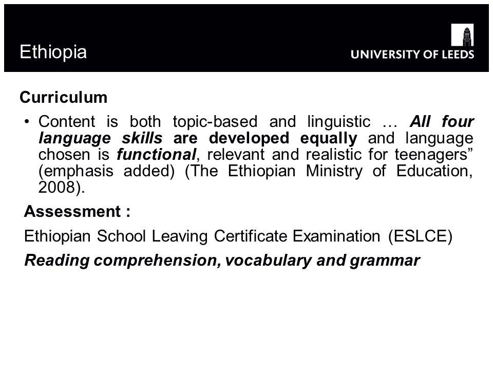 Ethiopia Curriculum.