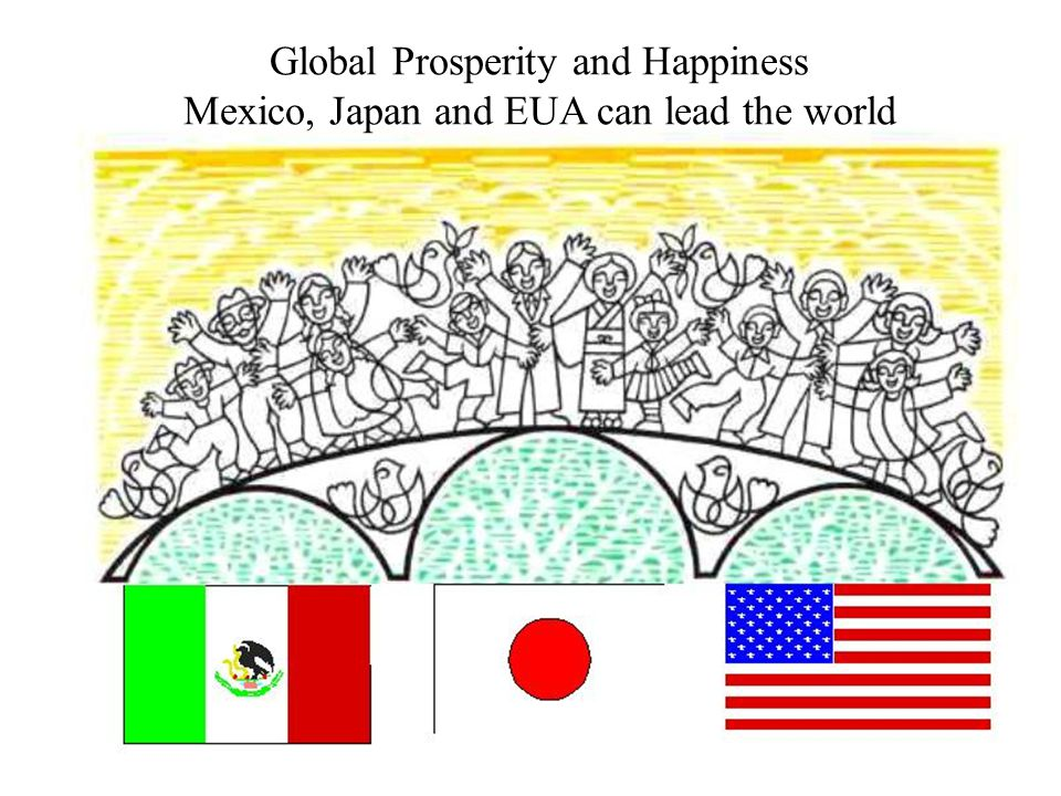 Global Prosperity and Happiness Mexico, Japan and EUA can lead the world