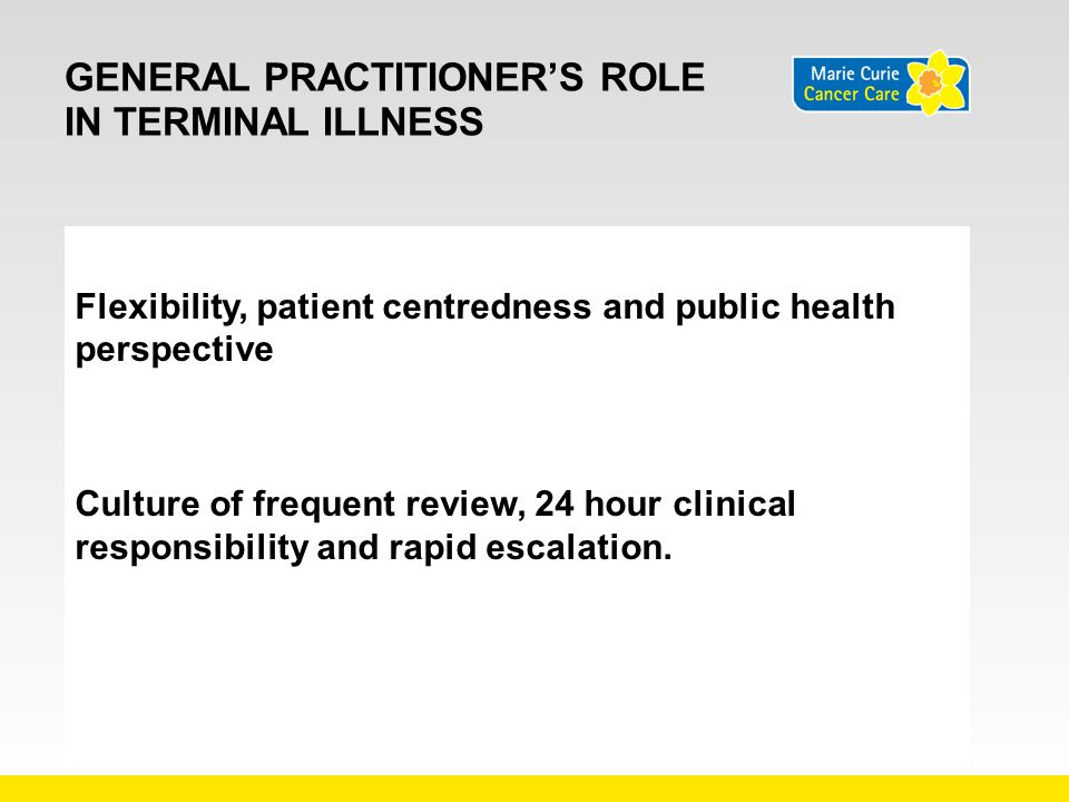 General practitioner's role in terminal illness