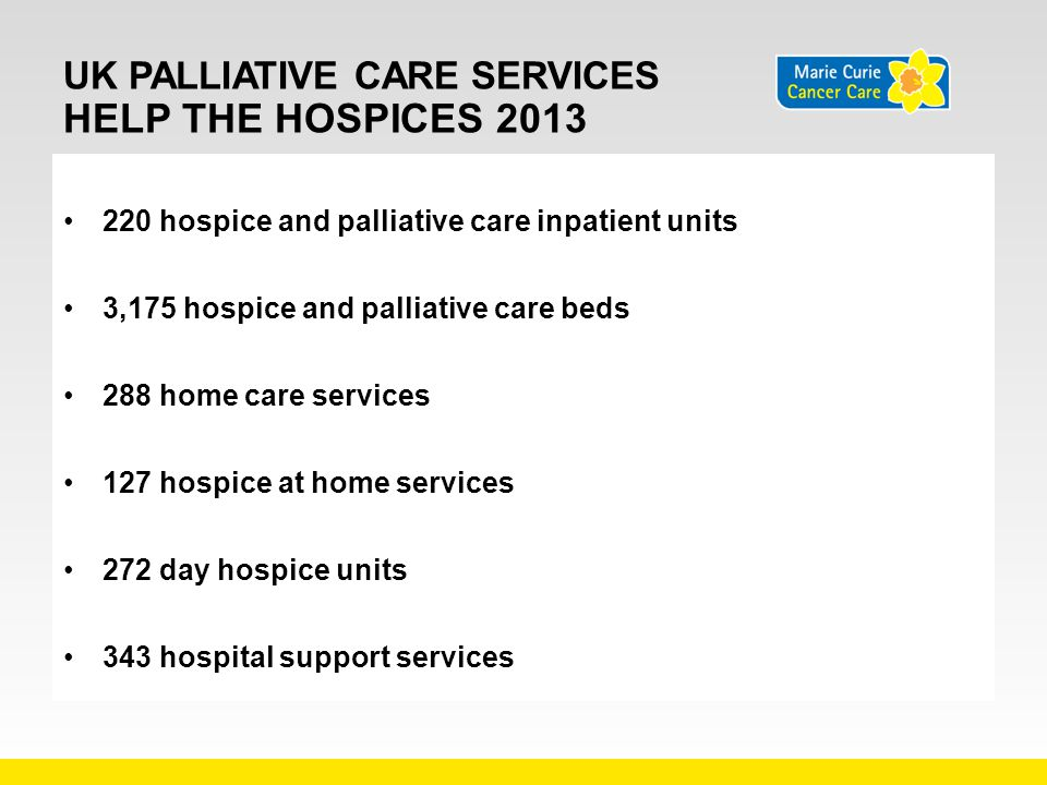 UK Palliative Care Services Help tHe hospices 2013