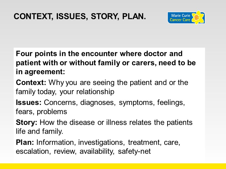 Context, Issues, Story, Plan.