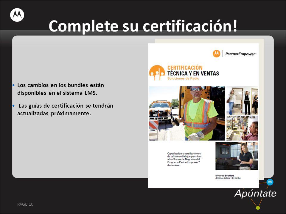 Complete su certificación!