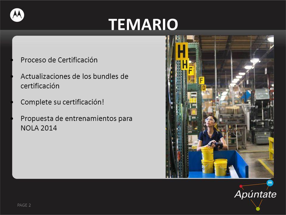 TEMARIO Proceso de Certificación