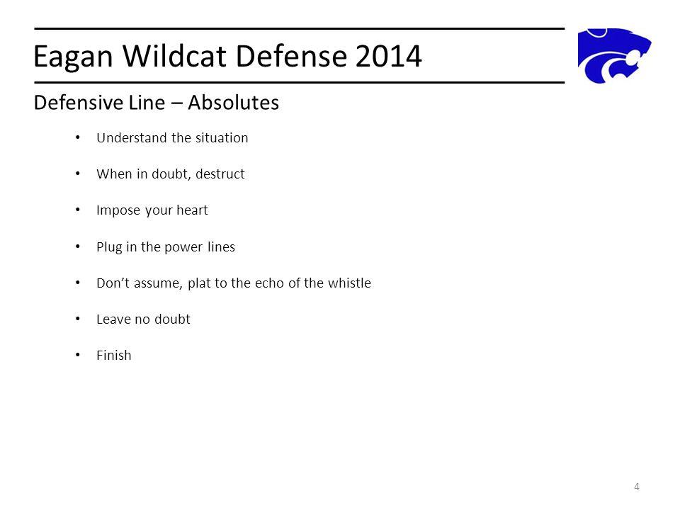 Eagan Wildcat Defense 2014 Defensive Line – Absolutes