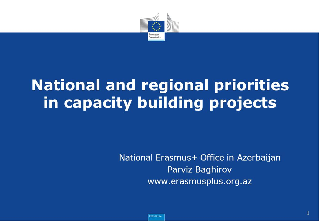 National and regional priorities in capacity building projects