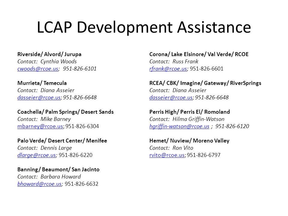 LCAP Development Assistance