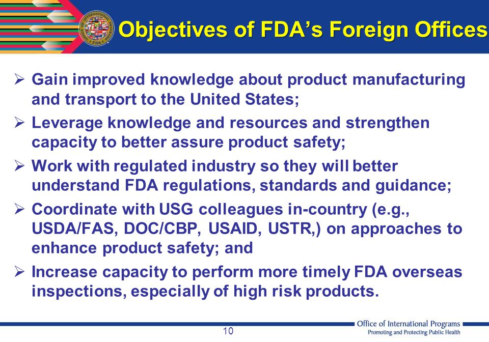 Objectives of FDA's Foreign Offices