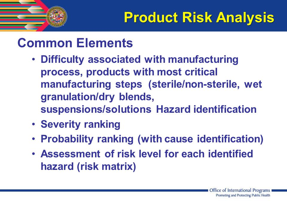 Product Risk Analysis Common Elements