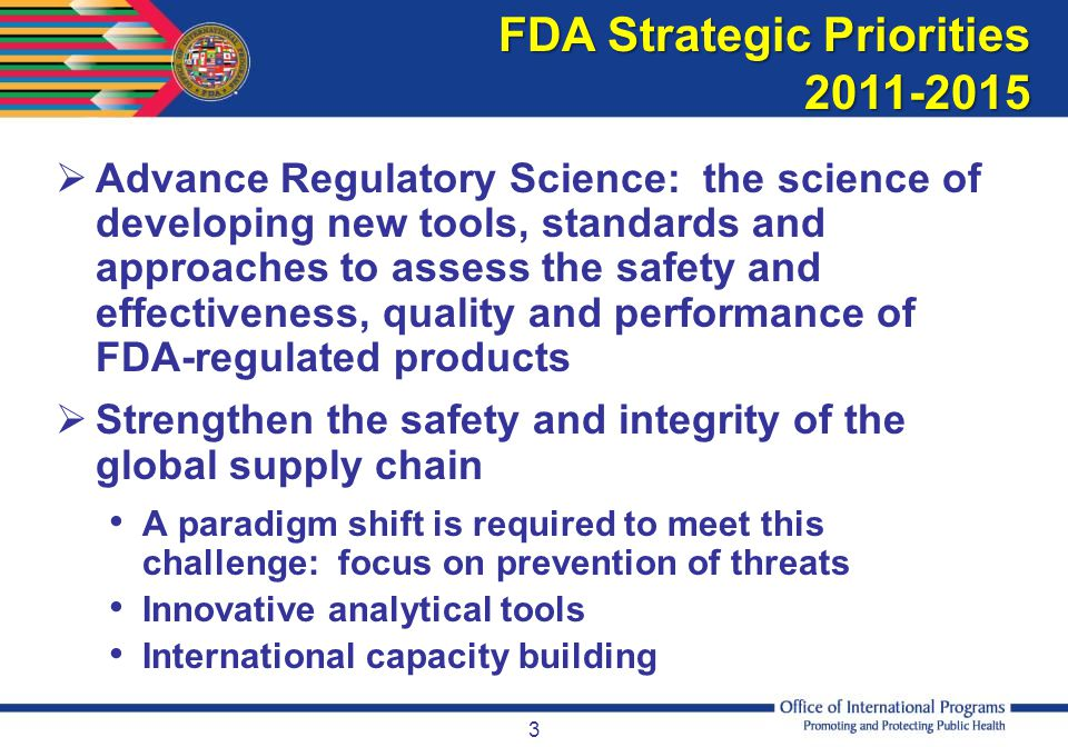 FDA Strategic Priorities 2011-2015