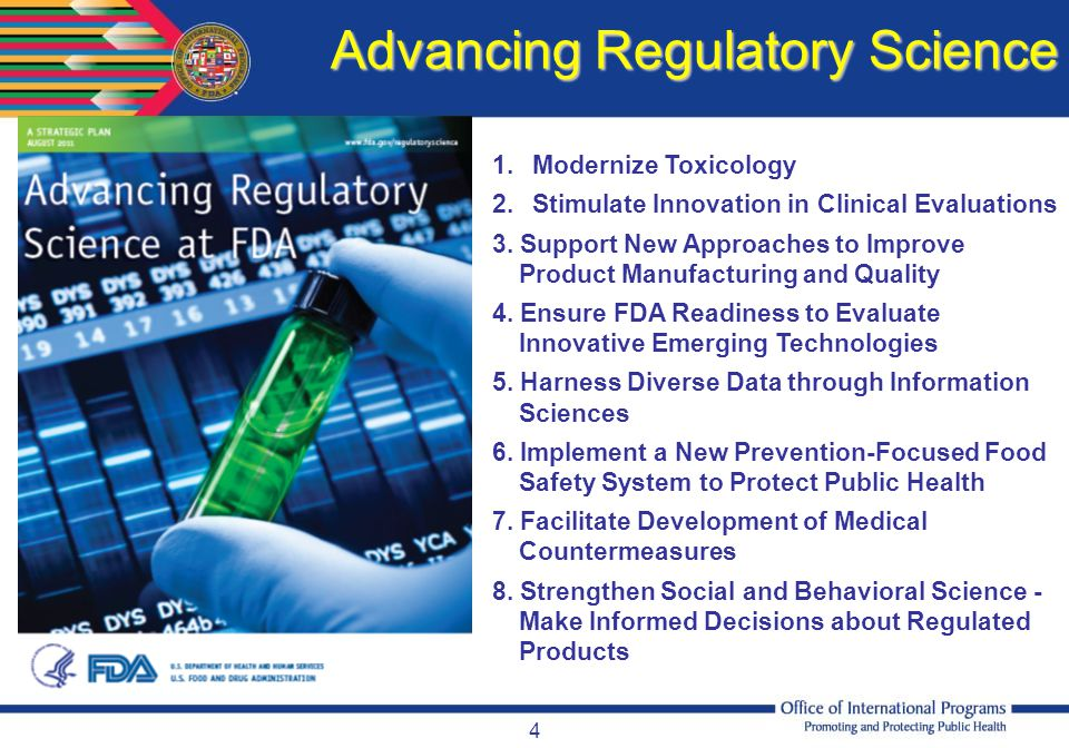 Advancing Regulatory Science