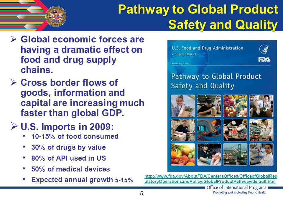 Pathway to Global Product Safety and Quality