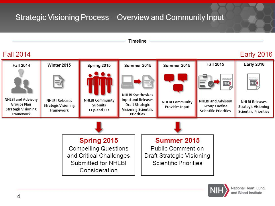 Strategic Visioning Process – Overview and Community Input