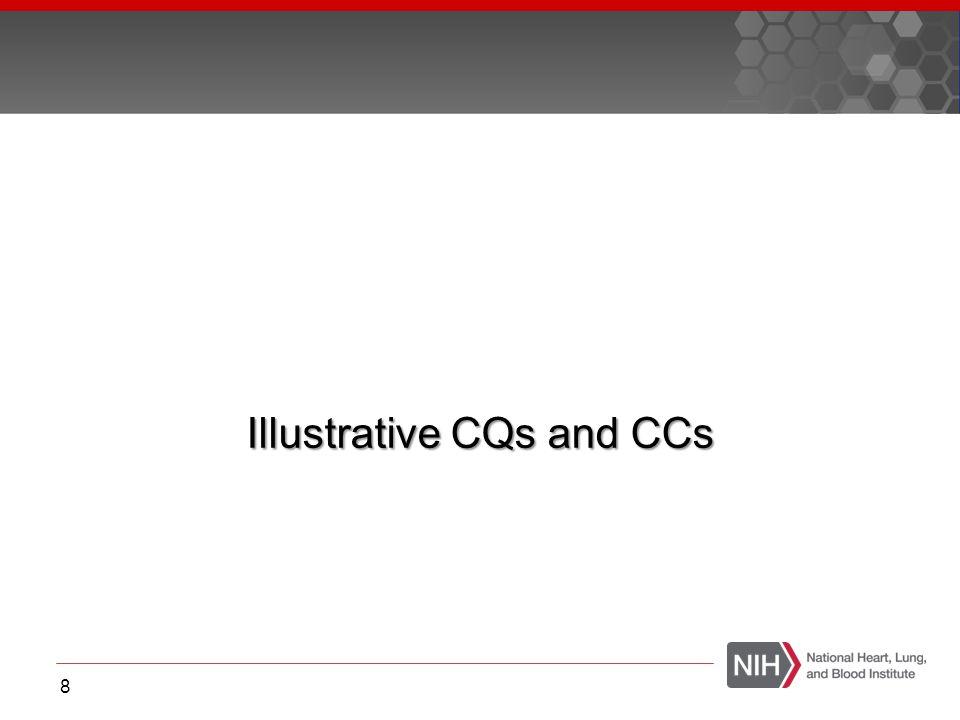 Illustrative CQs and CCs