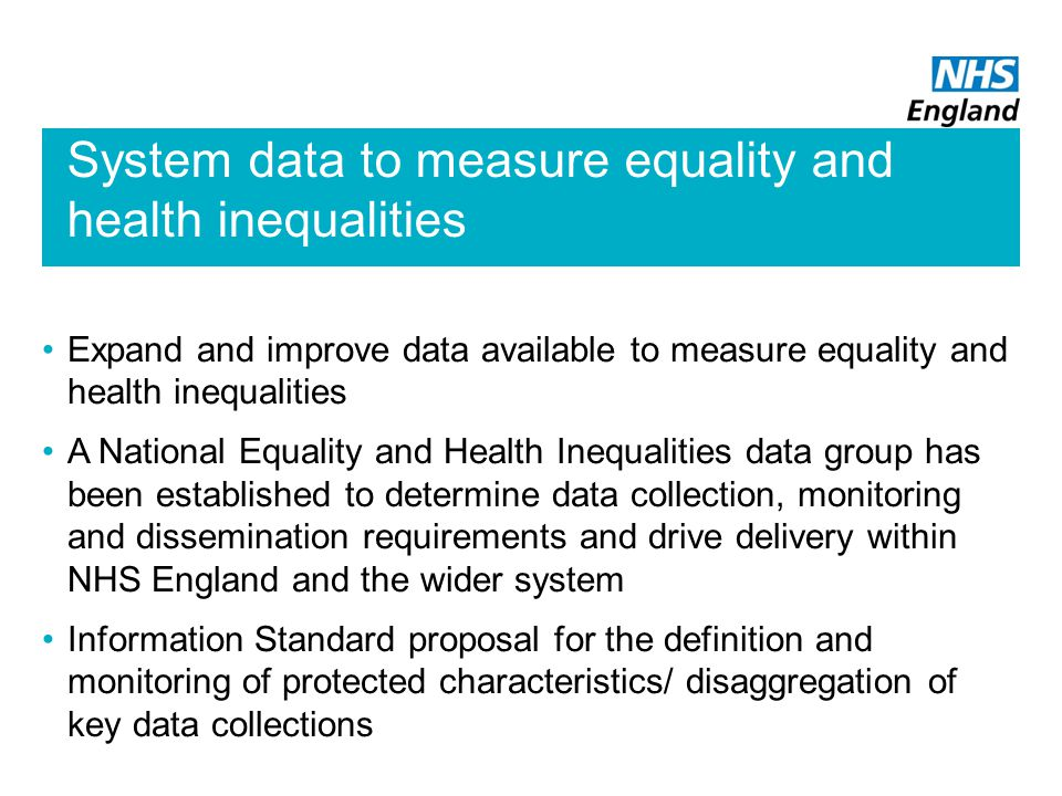 System data to measure equality and health inequalities