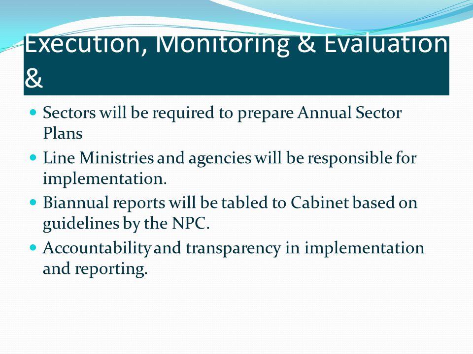 Execution, Monitoring & Evaluation &