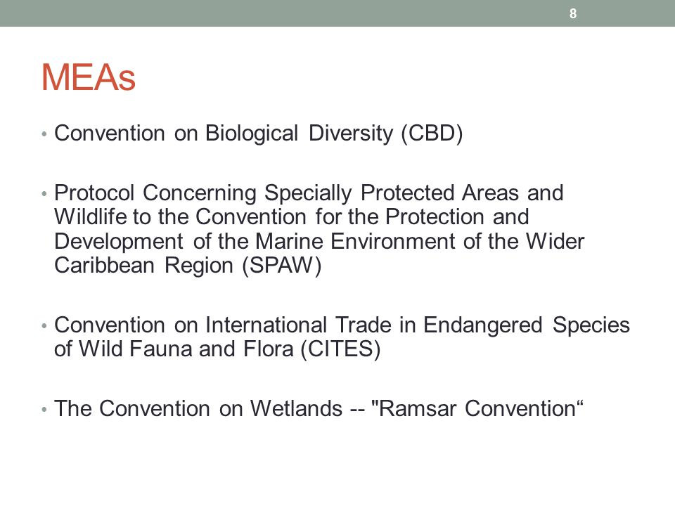 MEAs Convention on Biological Diversity (CBD)