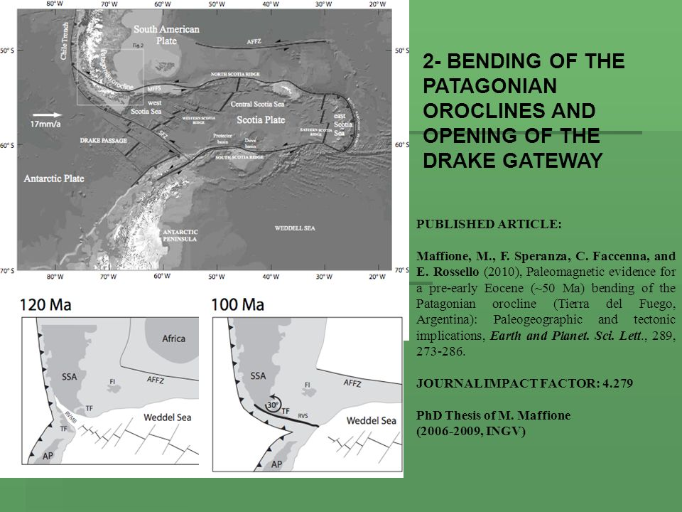 2- BENDING OF THE PATAGONIAN OROCLINES AND OPENING OF THE DRAKE GATEWAY