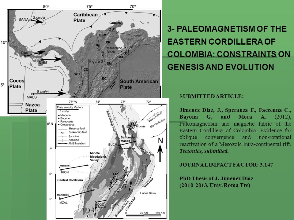 3- PALEOMAGNETISM OF THE EASTERN CORDILLERA OF COLOMBIA: CONSTRAINTS ON GENESIS AND EVOLUTION