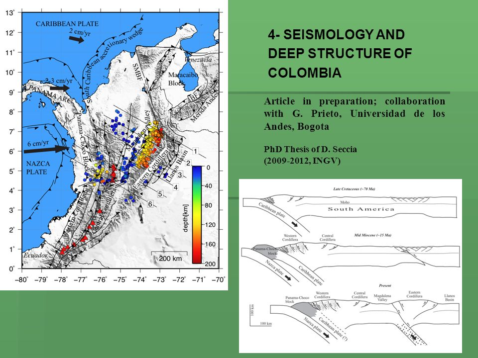 4- SEISMOLOGY AND DEEP STRUCTURE OF COLOMBIA