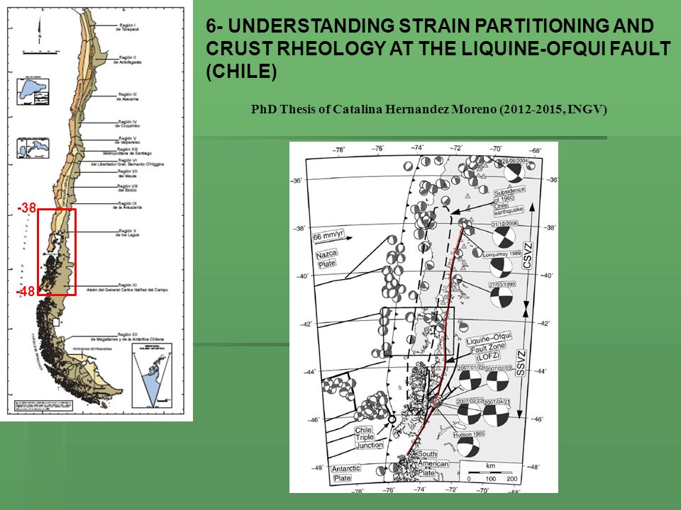 6- UNDERSTANDING STRAIN PARTITIONING AND CRUST RHEOLOGY AT THE LIQUINE-OFQUI FAULT (CHILE)