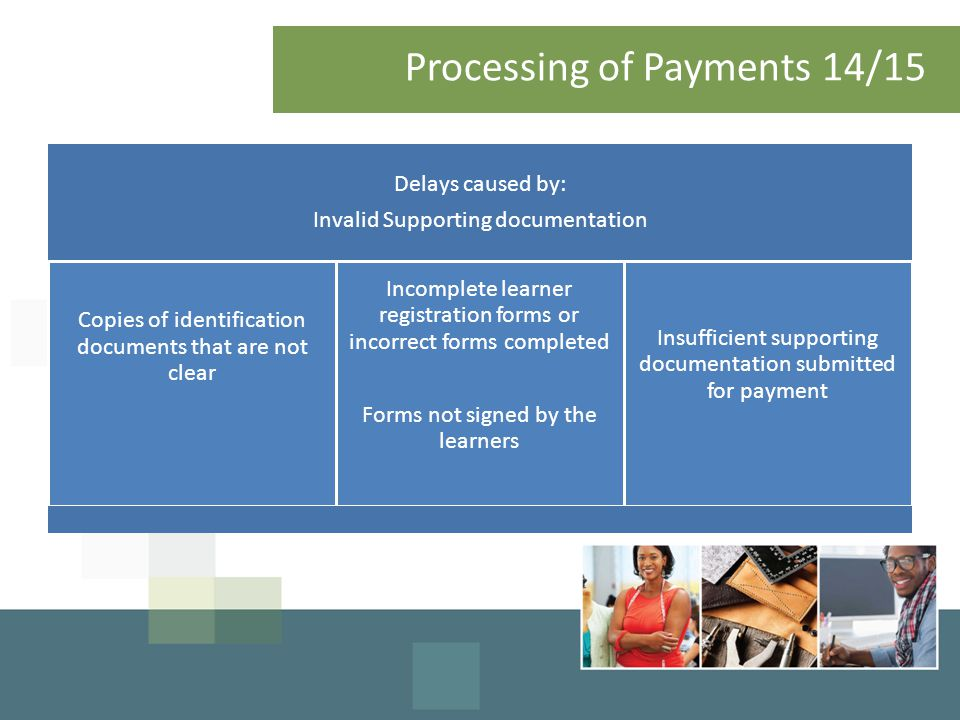 Processing of Payments 14/15