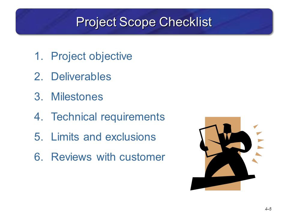Project Scope Checklist