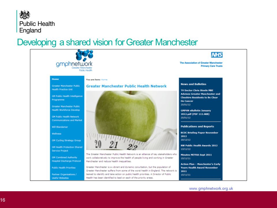 Developing a shared vision for Greater Manchester