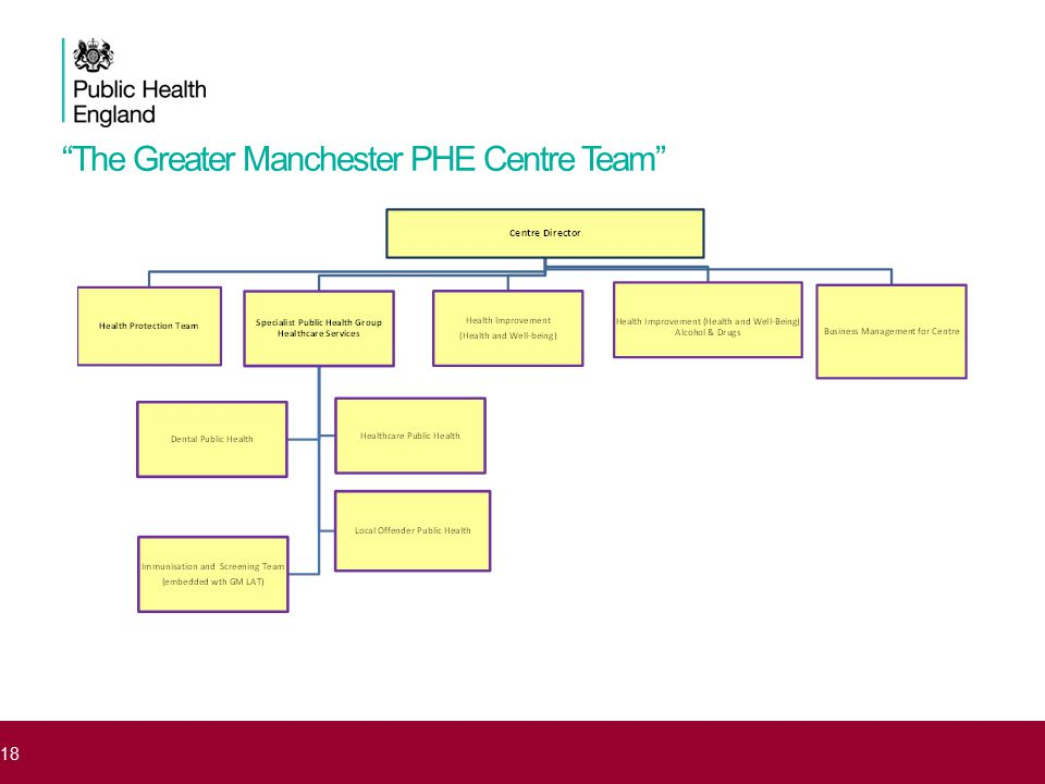 The Greater Manchester PHE Centre Team